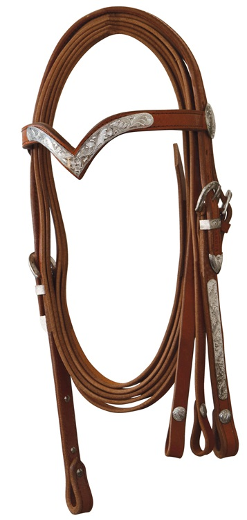 Western Headstall incl. Reins Lakota Natural Oiled