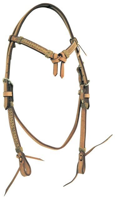 Western Headstall Set Rawhide Pools