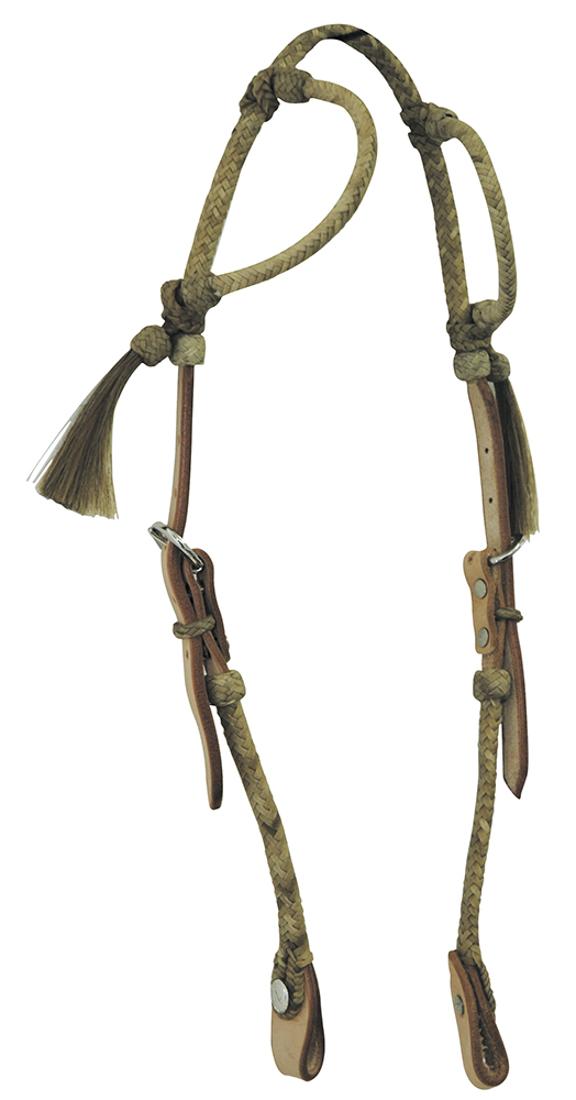 Western Headstall Two Ears  Rawhide