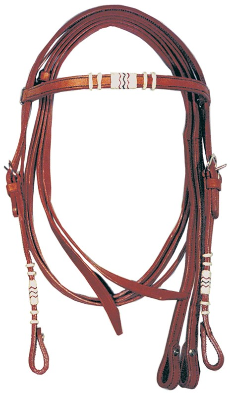 Western Headstall Set  Lakota Cognac