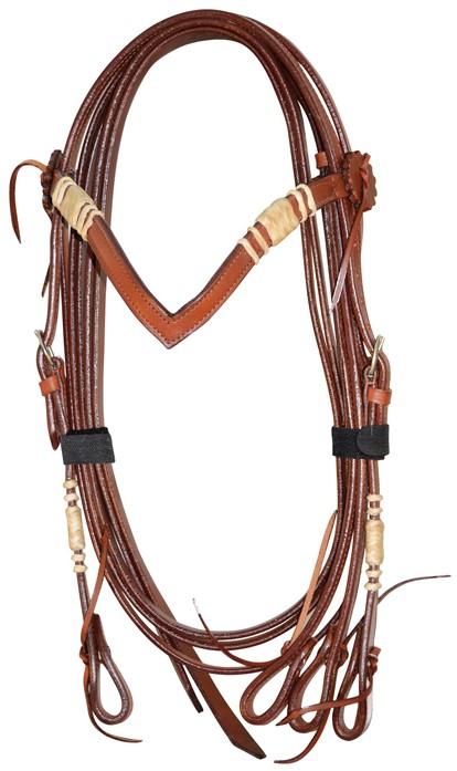 Western Headstall Set  Rawhide Lakota