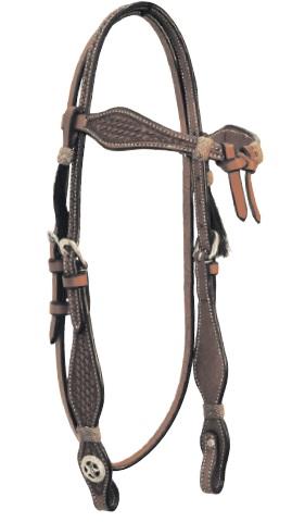 Western Headstall Set  Lakota Cognac