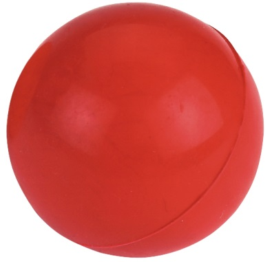Solid Rubber Ball  Diameter 5 cm  Röd