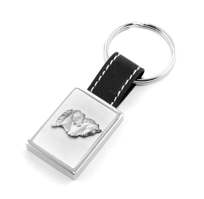 Nyckelring Hästhuvud Silveröverdragen