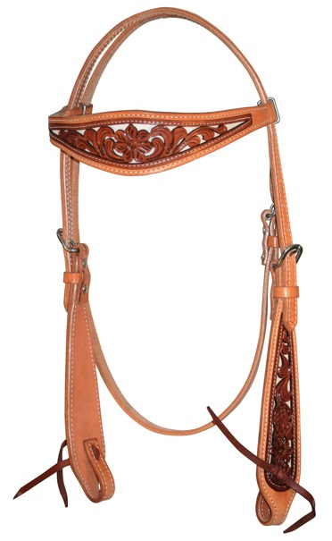 Western Headstall Classic Inlay Pools