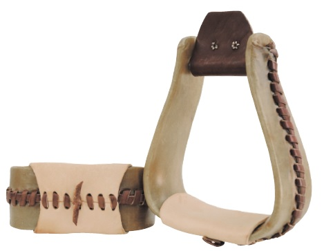 Rawhide Stirrups Custom Made  Lakota 7,6 cm