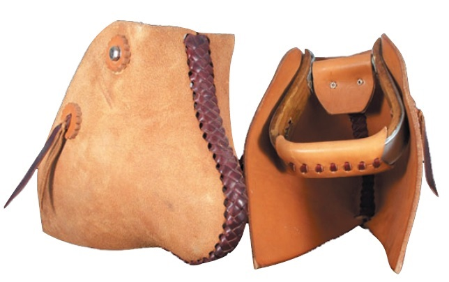 Leather Tapaderos with Stirrups