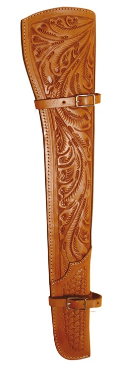 Shotgun Cover in Leather  Natural Leather