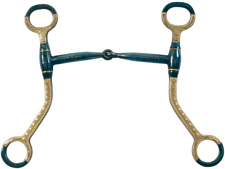 Snaffle Blue Bit With Shanks Pools