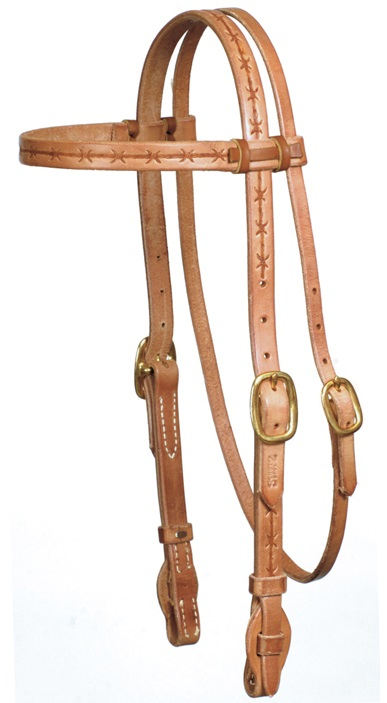 Western Headstall Barb Wire
