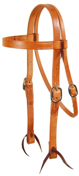 Western Headstall Wide Herman Oak