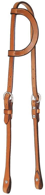 Western Headstall One Ear Herman Oak
