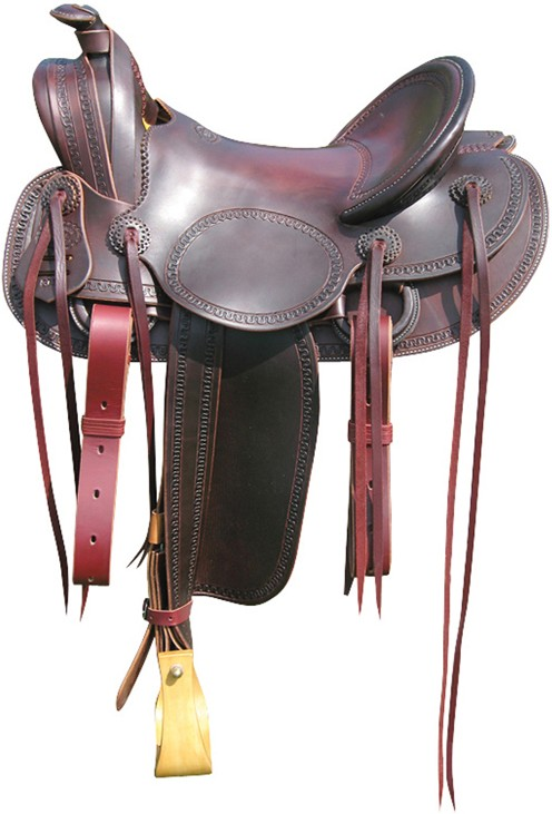Mounted Shooter Saddle RWB