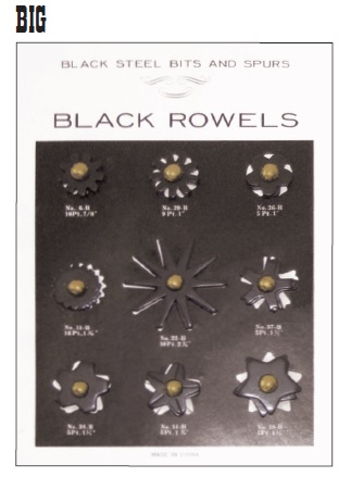 Black Steel Rowels Card