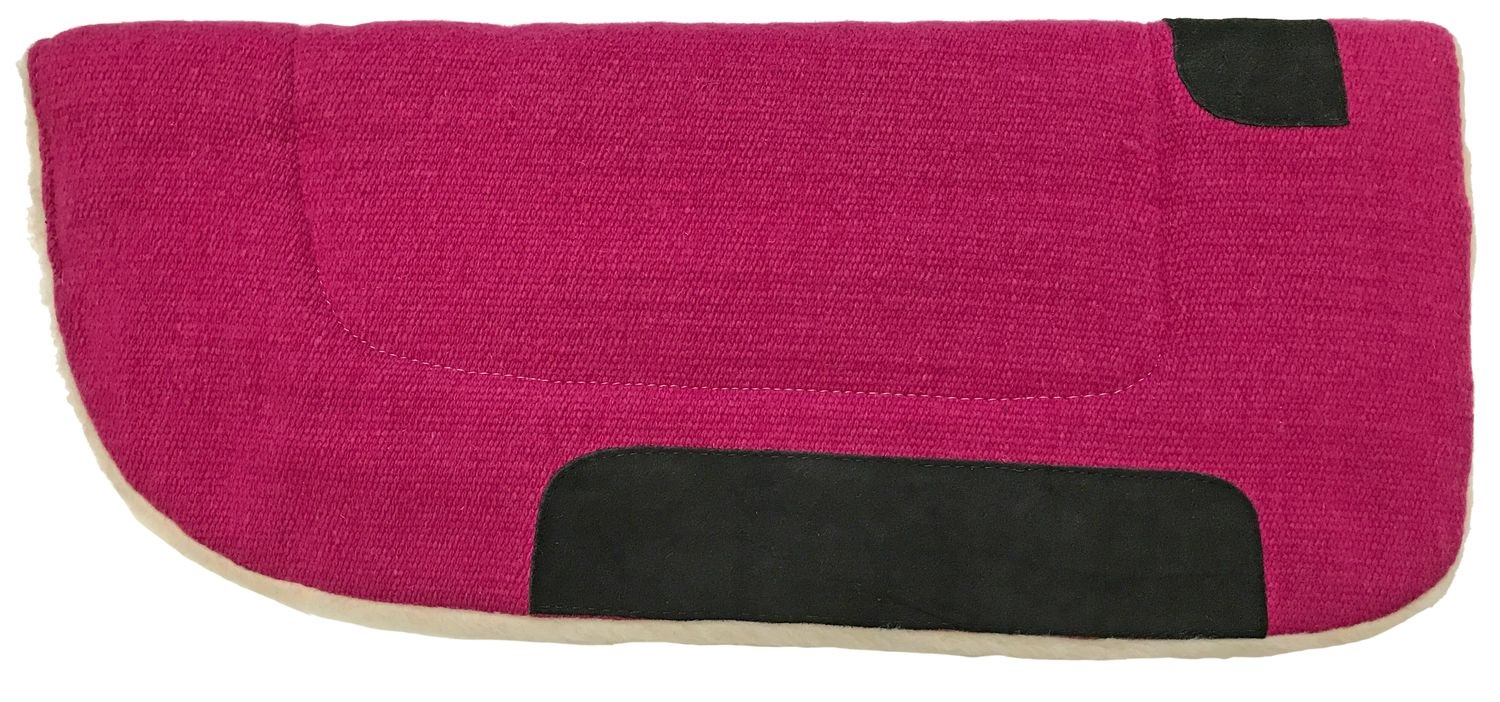 Western Barrel Pad Round  Hot Pink