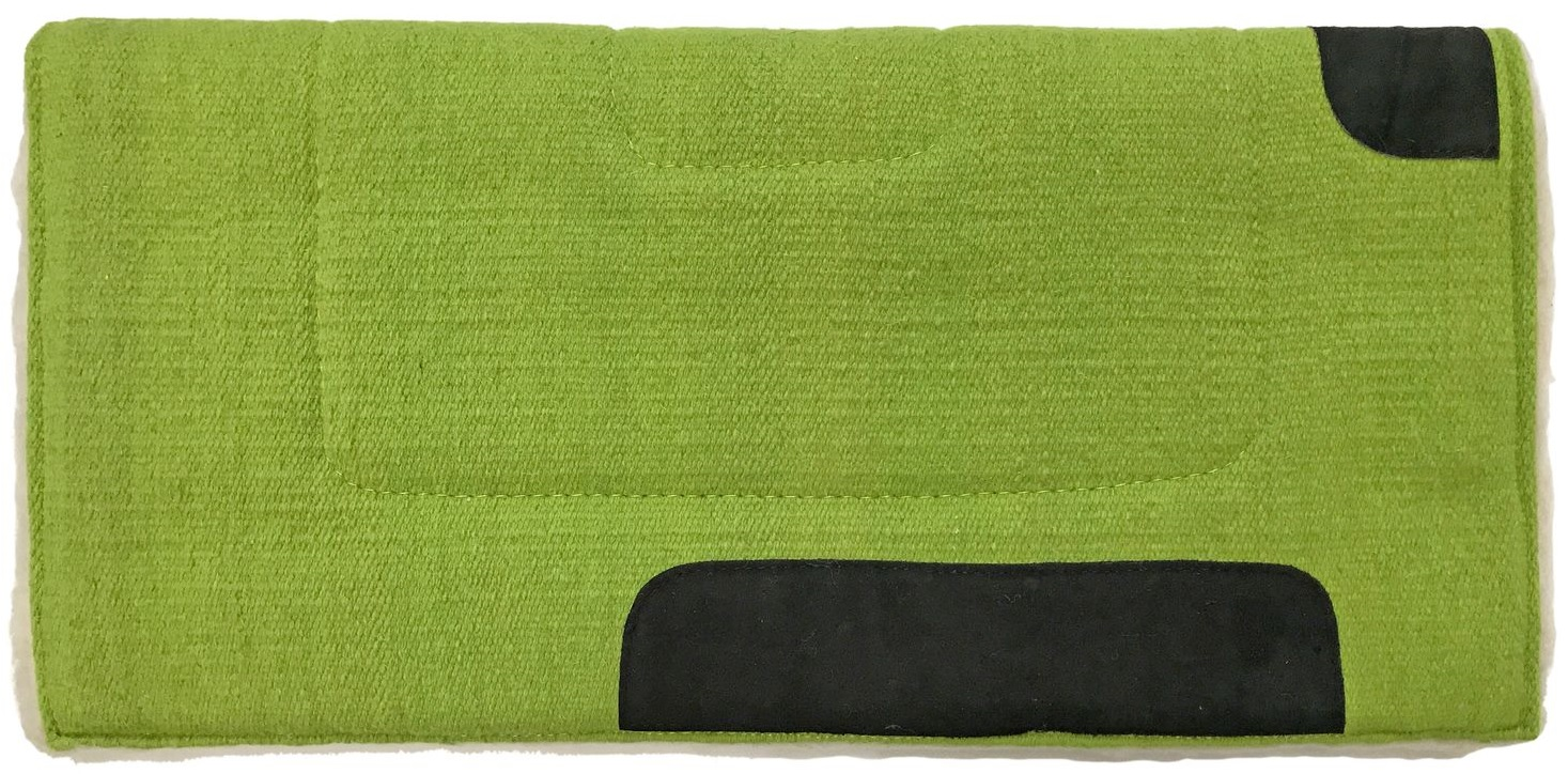 Western Pad Square Lime Green