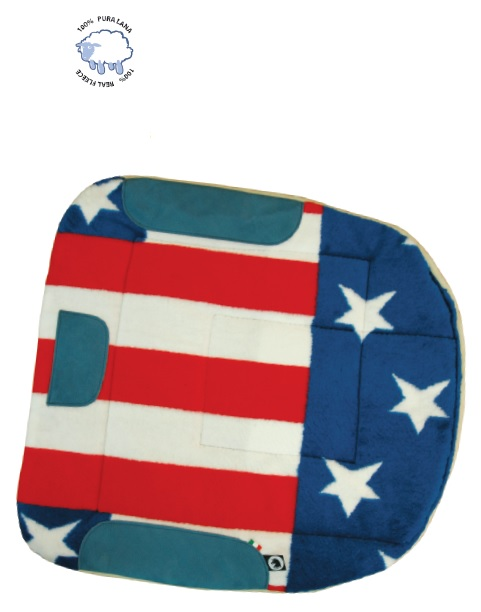 Barrel Saddlepad USA Flag Colour
